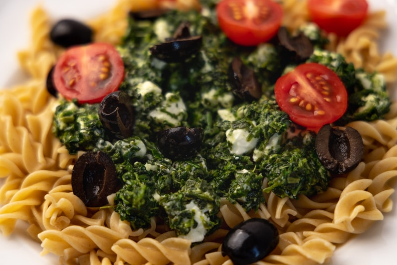 Pasta with feta