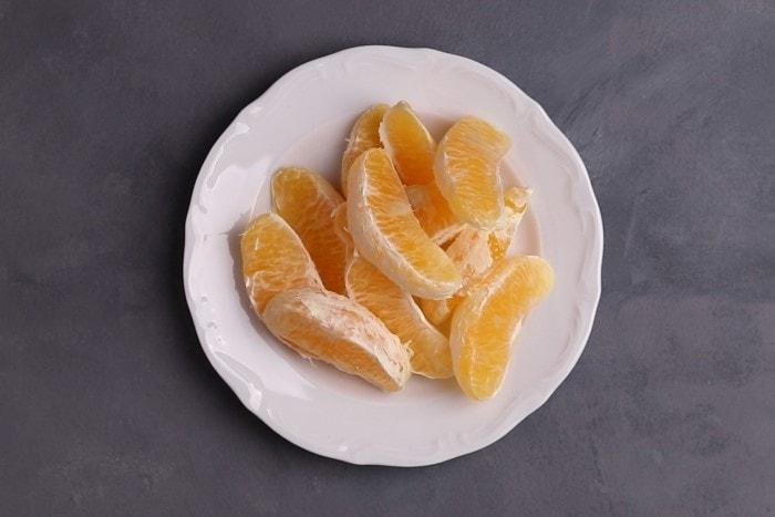 Peeled orange segments