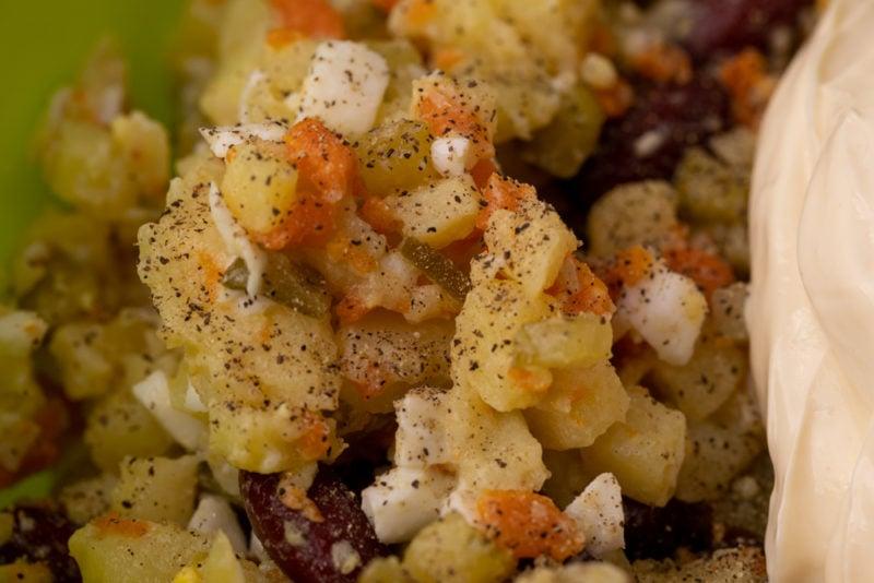 Pepper in potato salad