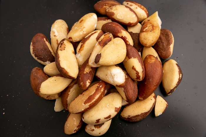 Pile of Brazil nuts