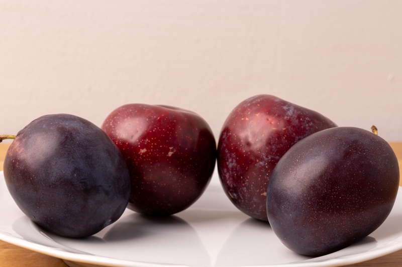 Plums on a plate