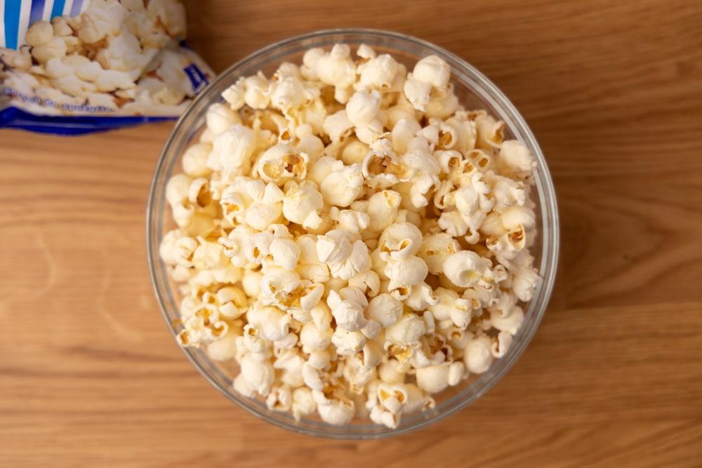 Popcorn served