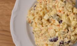 Portion of potato salad