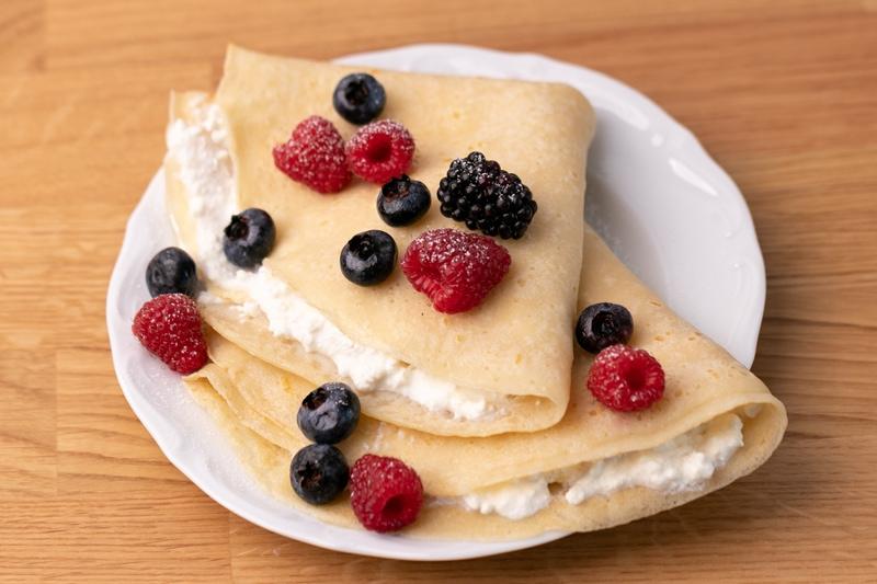 Powdered milk based pancakes