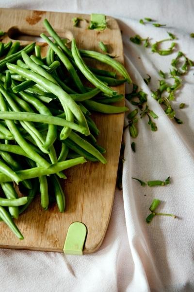 Prepping green beans