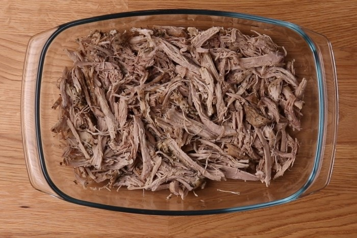 Pulled pork before reheating