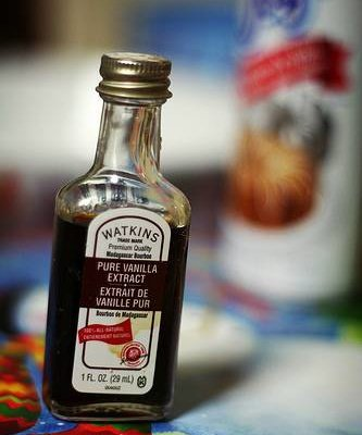 A bottle of pure vanilla extract