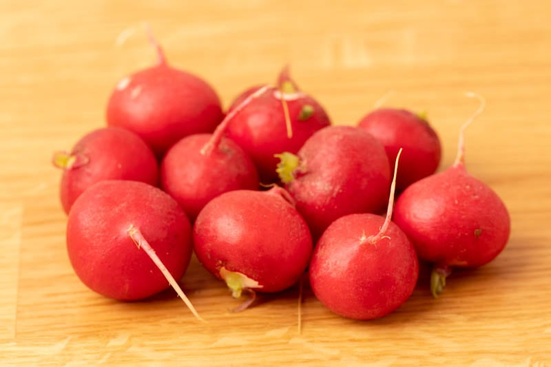 Radishes without greens