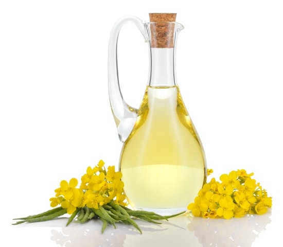 Rapeseed oil and flowers