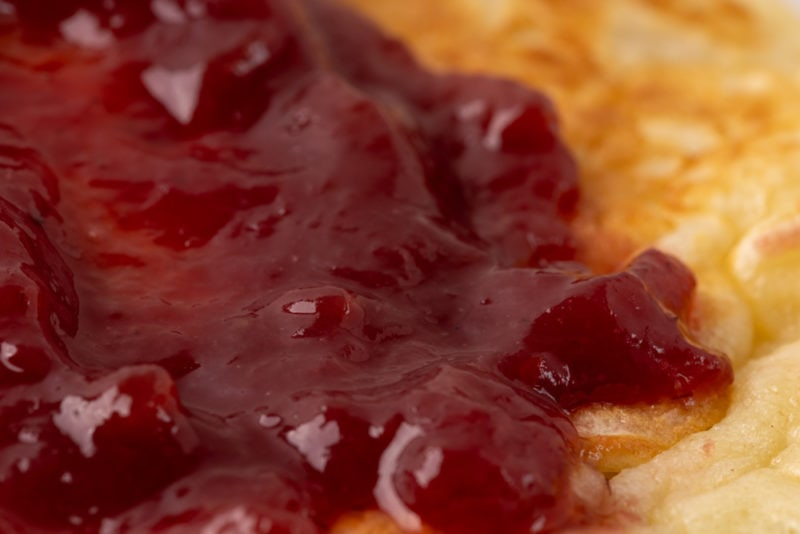 Raspberry jam closeup