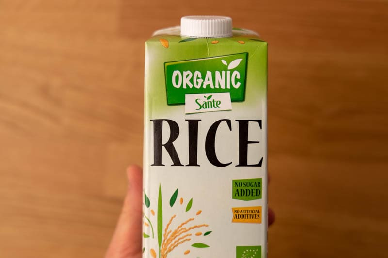 Rice milk in hand