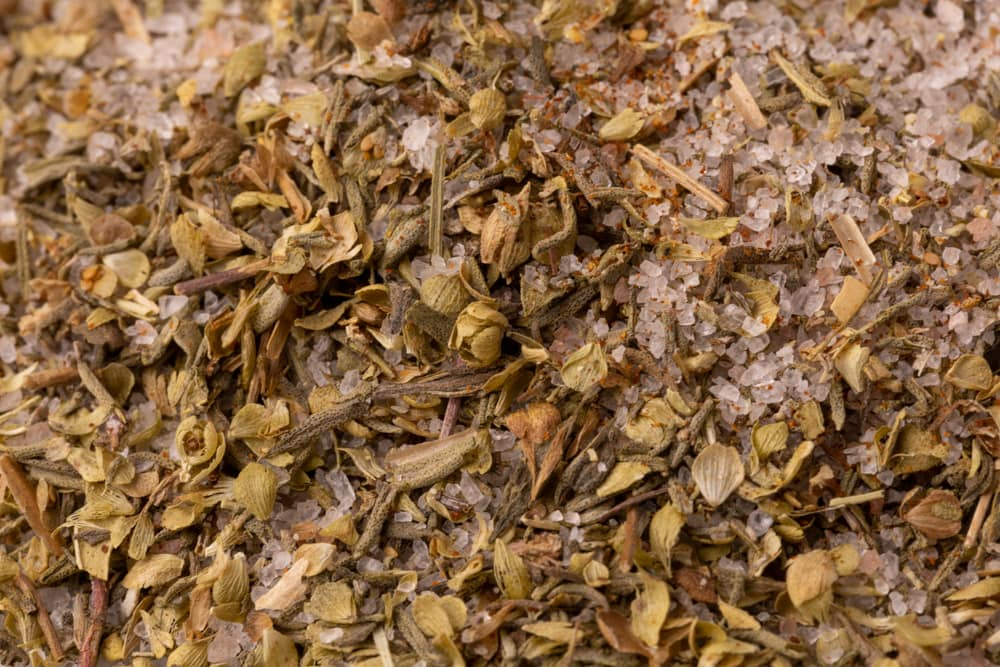 Spice mix with salt, thyme, and oregano