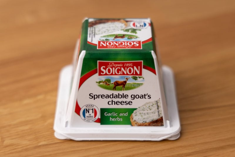 Spreadable goat cheese