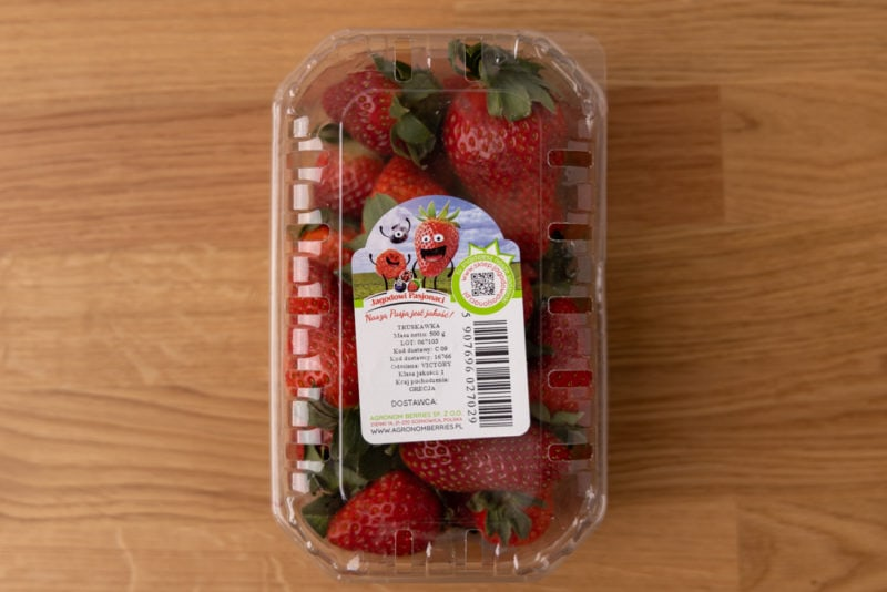 Strawberries container