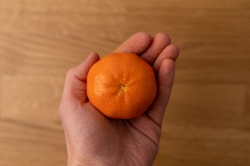 Tangerine in hand