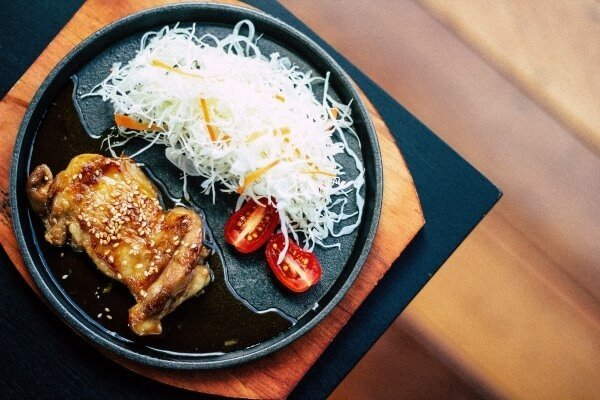 Teriyaki chicken on a plate