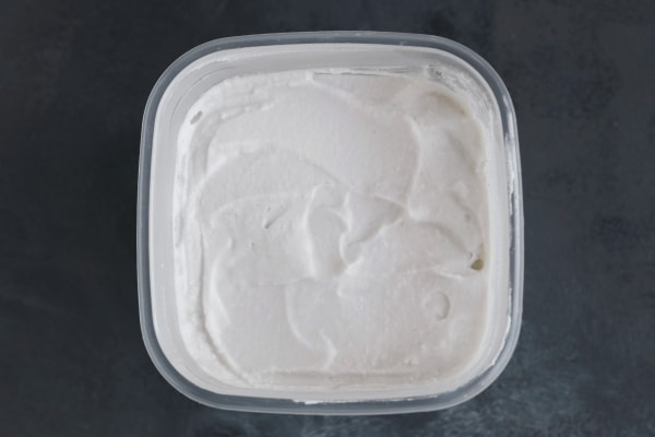 Thawed and blended coconut milk