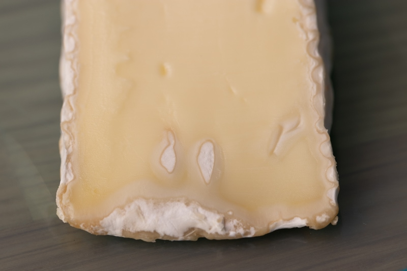 Thawed brie: visible dryness