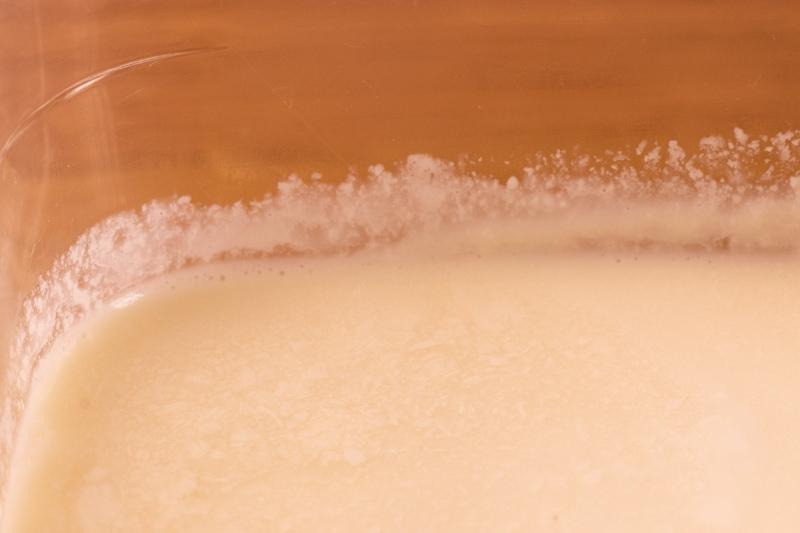 Thawed evaporated milk: separation