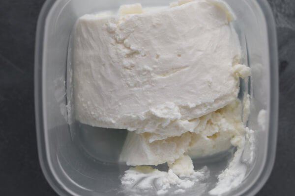 Thawed ricotta cheese