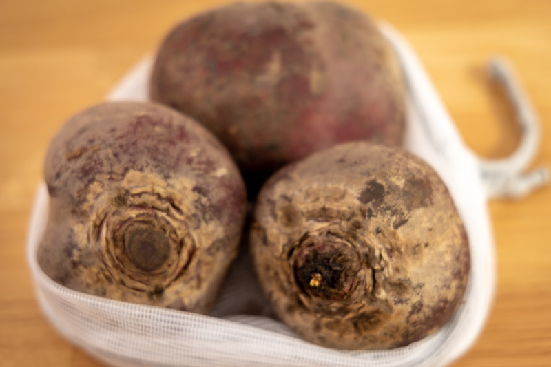 Three beets in a bag