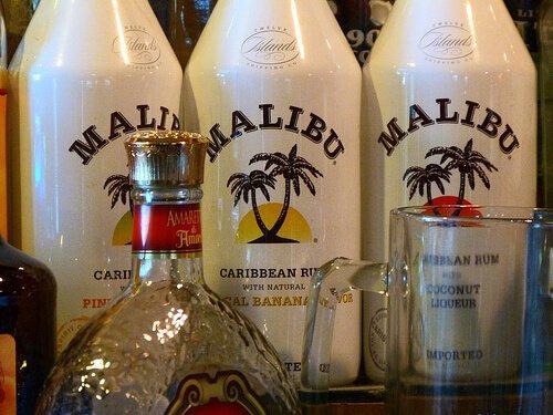 Three bottle of Malibu