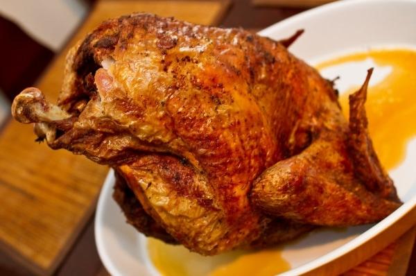 Turkey fried in peanut oil