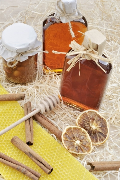 Homemade mead and spices