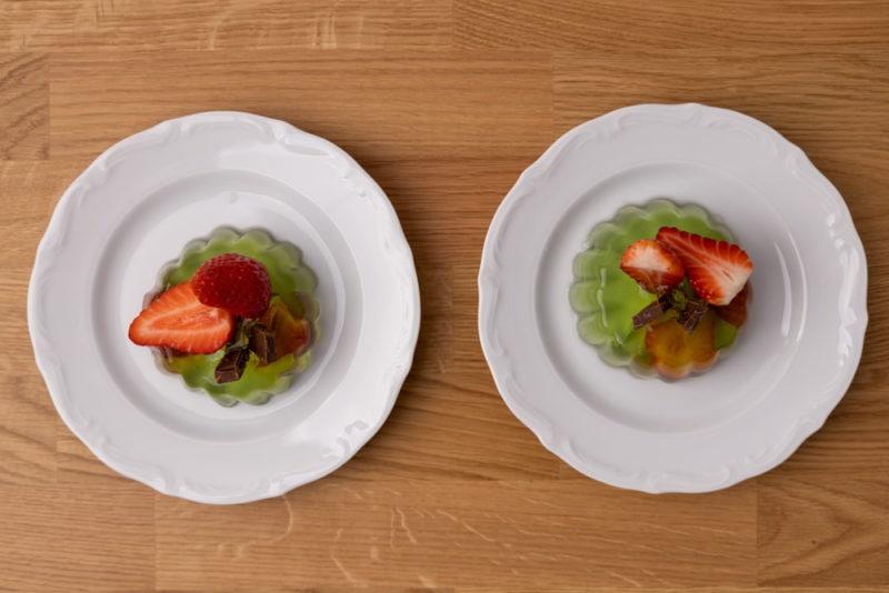 Two jello desserts