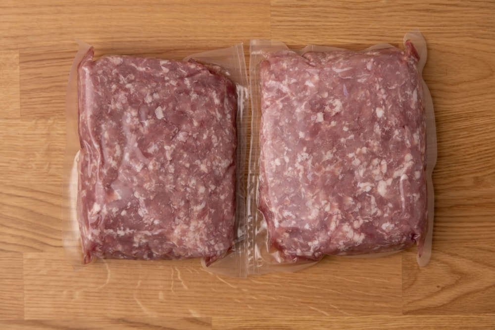 Two packages of ground pork
