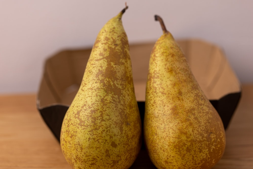 Two whole pears