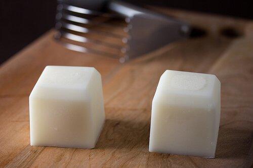 Cubes of shortening