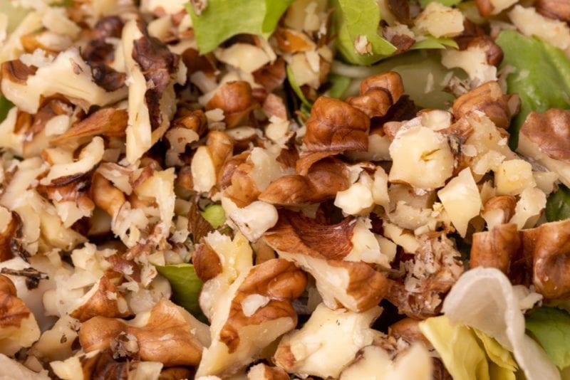 Walnuts in chicken salad