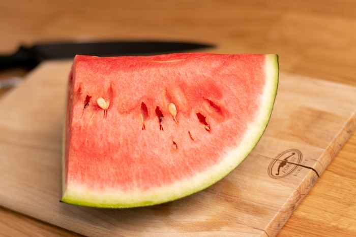 Watermelon before slicing
