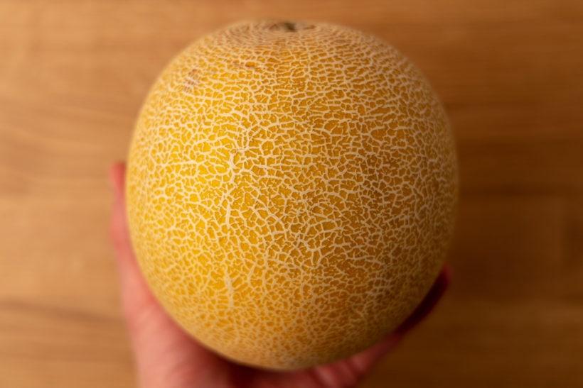 Whole honeydew melon