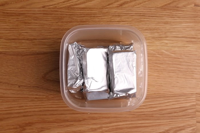 Wrapped fresh yeast segments