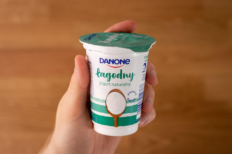Yogurt in hand