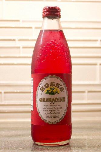 Bottle of grenadine