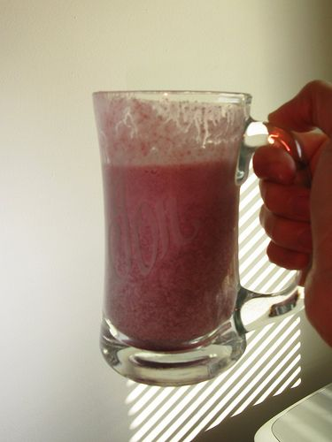 Smoothie with protein powder