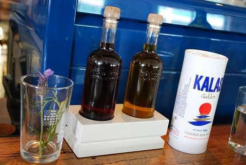 Lavendar, Red Wine Vinegar, Olive Oil and Salt